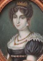 Miniature Portrait Josephine 1st Wife of Napoleon (3 of 6)