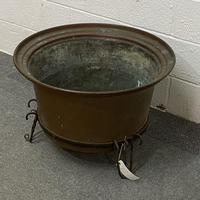 Antique Copper Cauldron (J1003A) (3 of 3)