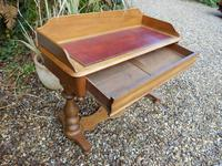 Pine Desk, Washstand, Leather Top (5 of 6)