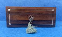 William IV Rosewood Box with Mother of Pearl Inlay (4 of 9)