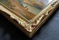Large Stunning 19thc Arcadian Landscape Oil Painting in the 18th Century manner (12 of 13)