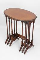 Antique Victorian Nest of 3 Mahogany Tables (7 of 13)