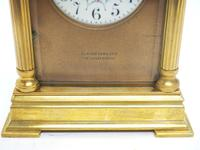 Antique Striking French 8-day Carriage Clock Unusual Masked Dial Case with Enamel Dial (6 of 11)