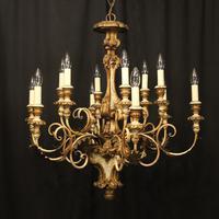 Florentine 12 Light Polychrome Antique Chandelier