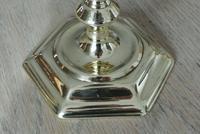 Pair of 18th Century English Gregorian Brass Candlesticks 1710-30 Seamed Stems (7 of 10)