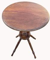 Lovely Circular Walnut Arts & Crafts Wine Table (3 of 6)