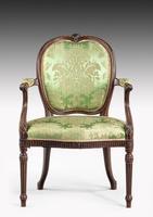 Hepplewhite Design Mahogany Framed Chair (2 of 5)