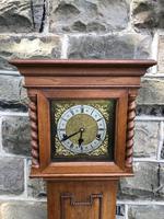 Antique Light Oak Grandmother Clock (2 of 12)