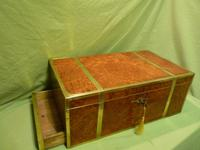 Exceptional FULLY Brass Bound Amboyna Writing Box c.1850 (12 of 15)