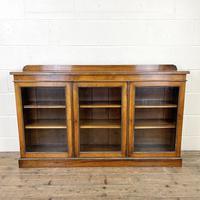 19th Century Glazed Walnut Bookcase
