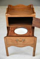 Mahogany Tray Top Commode Bedside Cupboard (7 of 11)