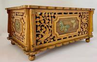 Unusual Pierced Box with Enamel Butterflies c.1920 (3 of 10)