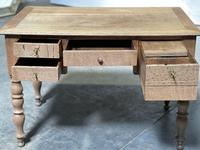French Bleached Oak Writing Desk (12 of 21)