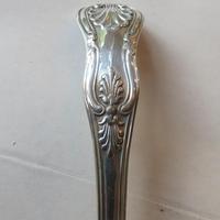 Georgian silver King's pattern caster spoon - 1832 (3 of 5)