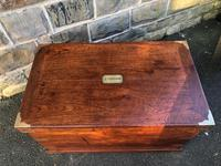 Antique Brass Bound Camphor Military Campaign Chest (7 of 11)