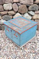 Swedish 'folk art' original blue paint box from hälsingland region, 1847. (25 of 26)