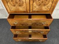 Burr Walnut Linen Press or Wardrobe (2 of 9)