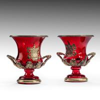 A Rare Pair of Ruby Glass and Ormolu Champagne Coolers (2 of 5)