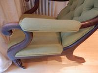 William IV arm chair, unmarked upholstery. (4 of 6)