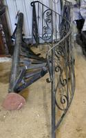 Unused Space Saver Iron Spiral Staircase with Hand Rails (8 of 12)