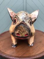 Antique Carved Pine Butchers Shop Display Pig (6 of 8)