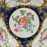 First Period Worcester Porcelain James Giles Lady Mary Wortley Montagu Soup Plate (2 of 8)