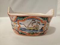 Incredible Quality 18th Century Dutch Delft doré Butter Tub (5 of 10)
