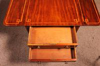 Pembroke Table In Mahogany & Inlay 19th Century - England (14 of 16)
