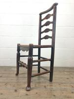 Pair of Antique Ladder Back Chairs (5 of 8)