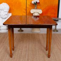 Writing Table 19th Century Flamed Mahogany Folding Card Console Table (10 of 12)