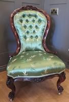 Carved Walnut Ladies Chair New Upholstery (3 of 7)