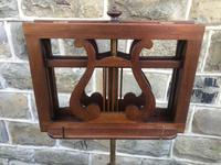 Antique Mahogany Music Duet Stand (6 of 10)