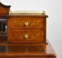 Edwardian Mahogany & Marquetry Writing Table by Jas Shoolbred (9 of 18)