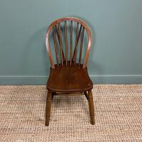 Eight Country House Elm Antique Kitchen Chairs (5 of 8)