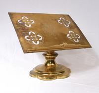 Victorian Gothic Reading Stand Antique Brass 1860 Lecturn (7 of 9)