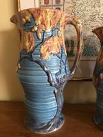 Carlton Ware Embossed Jugs Blue Nightime Oak Pattern c.1935 (3 of 11)