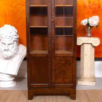 Art Deco Oak Glazed Bookcase (3 of 11)