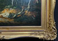 Exceptional Large 1700s Old Master Giltwood Landscape Oil on Canvas Painting (3 of 17)