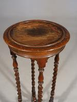 Early 20th Century Oak Jardinière Stand (3 of 5)