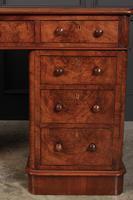 Exceptional Victorian Figured Walnut Desk (12 of 18)