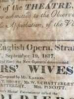 Antique Theatre Poster 1817 was the English Opera House, Now Lyceum, London Rare (3 of 7)