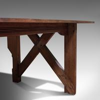 Large 12' Antique Kitchen Table, English, Pine, Industrial, Victorian, 1900 (7 of 12)