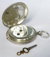 Antique Silver Hunter Pocket Watch for J W Benson (2 of 5)