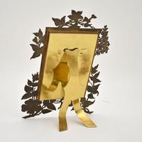 Antique Art Nouveau Brass Table Top Mirror / Picture Frame (6 of 7)
