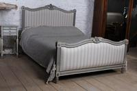 Beautiful Newly Upholstered King Size French Louis XVI Style Bed