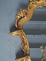 Victorian French Giltwood Girandole Mirror (5 of 10)