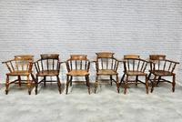 6 Smoker's Bow Armchairs - 19th Century (3 of 6)