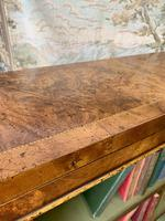 Pair of Burr Walnut Open Bookcases (8 of 8)