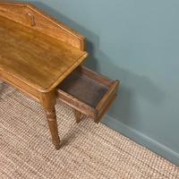Quality Victorian Golden Oak Antique Hall Table (5 of 7)
