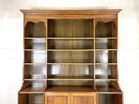 Large 19th Century Antique Oak Bookcase (3 of 11)